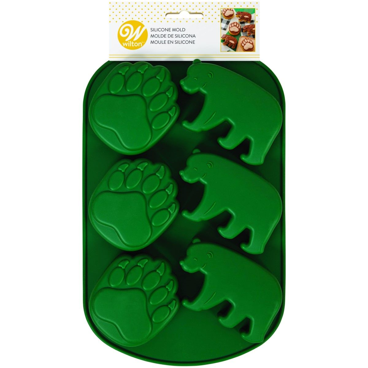 moule silicone ours foret wilton