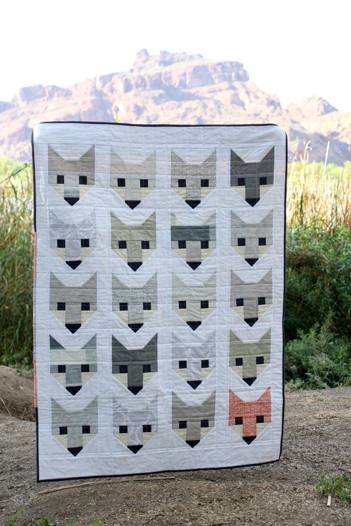 """Fancy Fox"" Quilt pattern by Elizabeth Hartman. Quilt version shown above by Holly Gets Quilty. PDF Digital Download for $10."