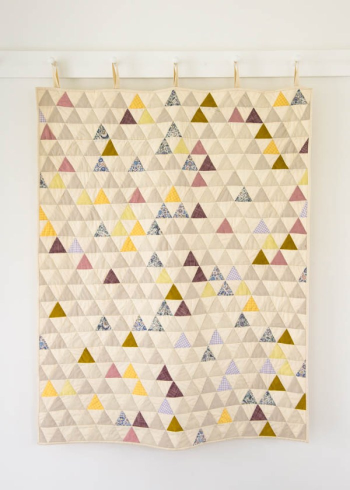 """Little Peaks Quilt"" by Molly at Purl Soho. Free tutorial on blog."