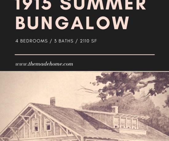 1915 Radford summer bungalow vintage floor plan with updated layout