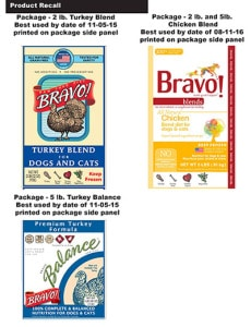 Bravo Recalls Pet Foods Possible Salmonella Health Risk