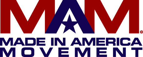 The Made In America Movement Logo Red Blue Main