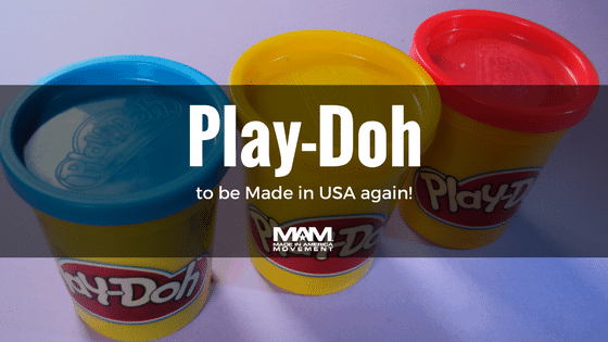 Play-Doh Will Be Made in The USA For The First Time in a Decade, childrens toys, childrens colorful clay, made in usa childrens toys