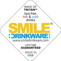 Smile Drinkware USA, Eastman Tritan Co-polyester BPA-free material, insulated coffee and tea cups, dishwasher safe, microwave safe, freezer safe, made in usa, made in america, american made, usa made, meet the makers,
