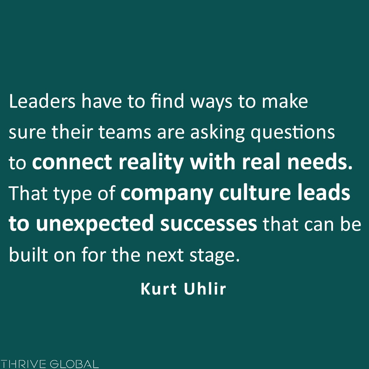 type of company culture leads to unexpected successes that can be built on for the next stage
