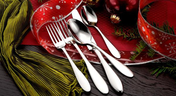 Made in USA dinner table, American made thanksgiving day table, made in usa flatware, american made flatware