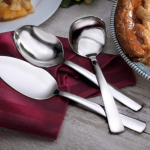 Thanksgiving Day Table, Made in USA dinner table, American made thanksgiving day table, made in usa flatware, american made flatware, 360 cookware, liberty tabletop flatware, stainless steel cookware, made in usa cookware, american made cookware, MODERN AMERICA HOSTESS SET
