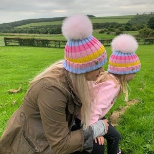 Merino Wool Rainbow Hat