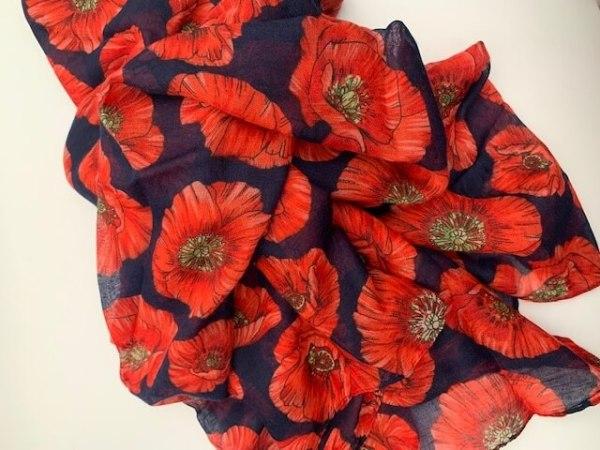 Poppy Print Scarves