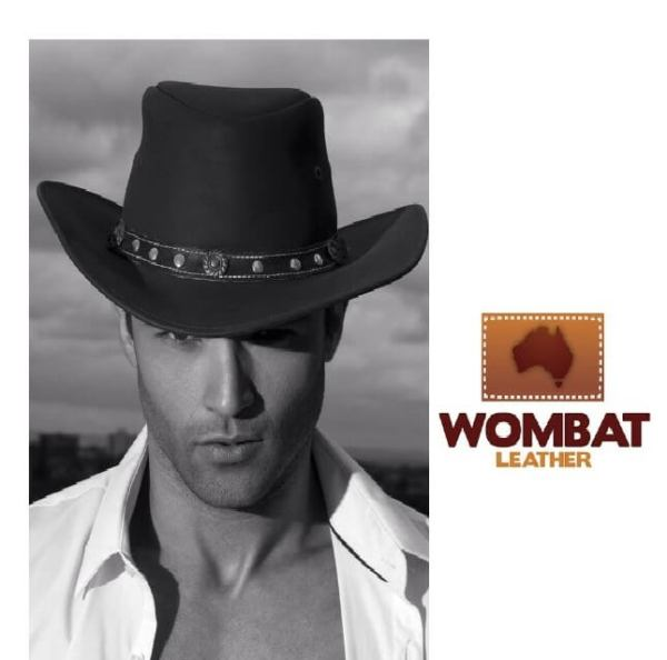 Wombat Leather Outback Hats