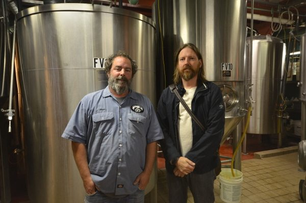 Brewer Dave Hoops and Tim Nelson of Fitger's Brewhouse