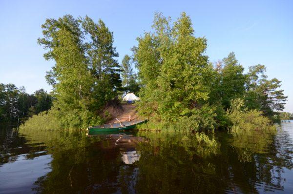 Island camping Turtle-Flambeau Flowage