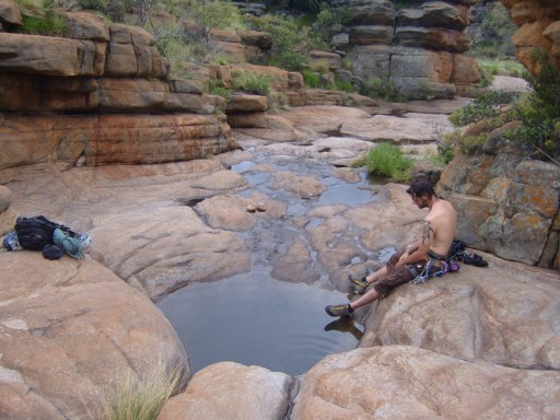 The local Jacuzzi is a great place to refresy yourself after a long day of climbing!