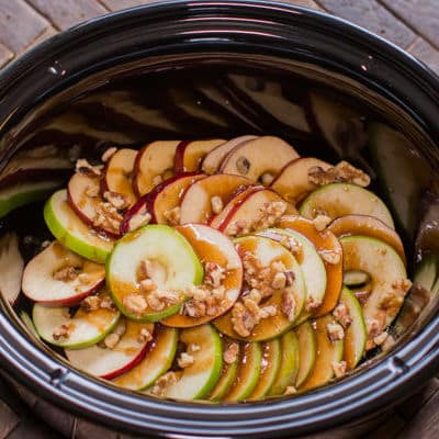 Slow Cooker Scalloped Apples