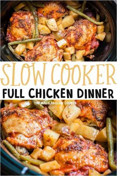 Slow Cooker Full Chicken Dinner