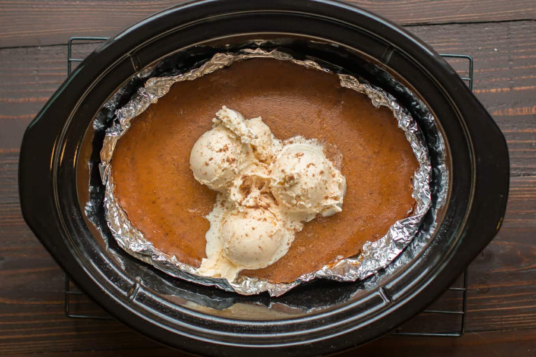 Slow Cooker Crustless Brown Sugar Pumpkin Pie