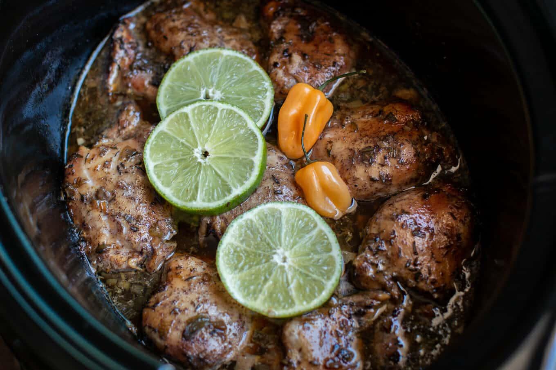 Slow Cooker Jamacian Jerk Chicken