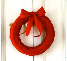 A Simple Red Valentine's Day Wreath