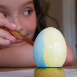 Watercolor Painted Easter Eggs