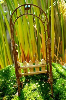 Miniature Arbor for our Fairy Garden