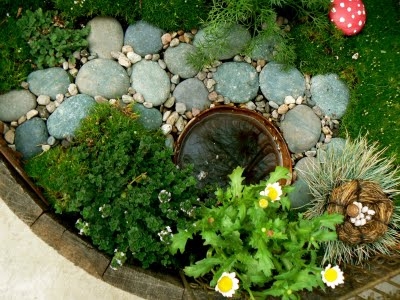 Emerald green mossy Fairy Garden