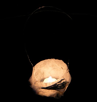 Our Winter Solstice Lantern to welcome in the light
