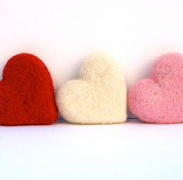 A Needle Felted Valentine's Day