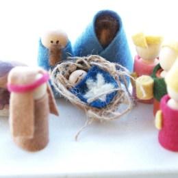 Handmade Felt Nativity Set