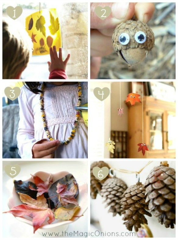 Autumn Crafting with Kids : www.theMagicOnions.com