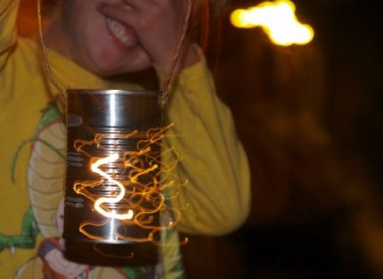 Make a Tin Lantern :: www.theMagicOnions.com