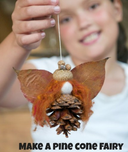 Make a Pine Cone Fairy using natural materisals
