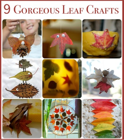 Leaf Crafts : www.theMagicOnions.com