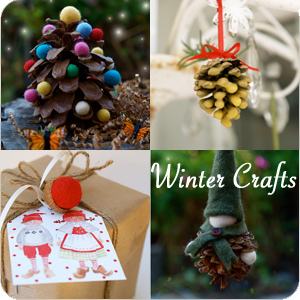 Winter Crafts from The Magic Onions : www.theMagicOnions.com