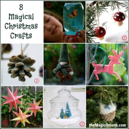 8 Magical Christmas Crafts : www.theMagicOnions.com