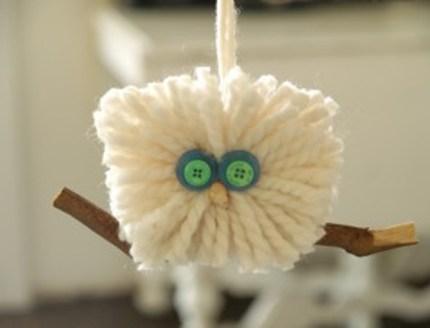 Fluffy Wool Owl Ornament : Handmade Christmas : www.theMagicOnions.com