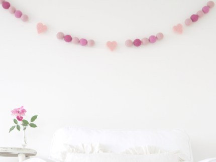 Felted Wool Garlands for Valentine's Day : www.theMagicOnions.com/shop/