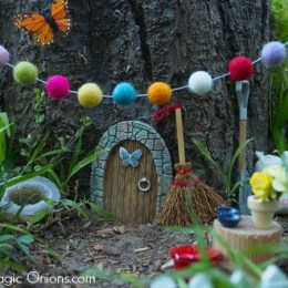 Our New Fairy Garden : In a Stump!