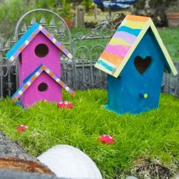 DIY Painted Fairy Houses