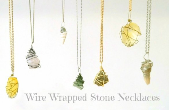 DIY Wire Wrapped Stone Necklace : The Magic Onions.com