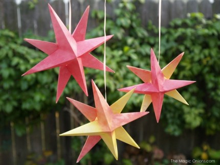 Watercolor Origami Star : The Magic Onions : www.theMagicOnions.com
