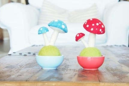 White Needle Felted Toadstool Pot :  http://themagiconions.com/shop/