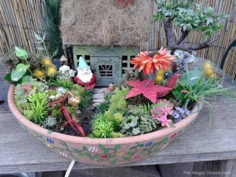 Lori Loo's Fairy Garden : www.theMagicOnions.com