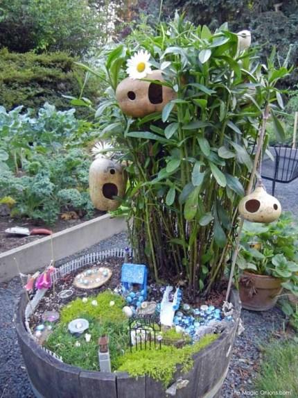 Gourd Fairy Garden : Fairy Garden Contest : www.theMagicOnions.com