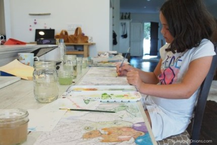 Family Painting Day : The Magic Onions Blog