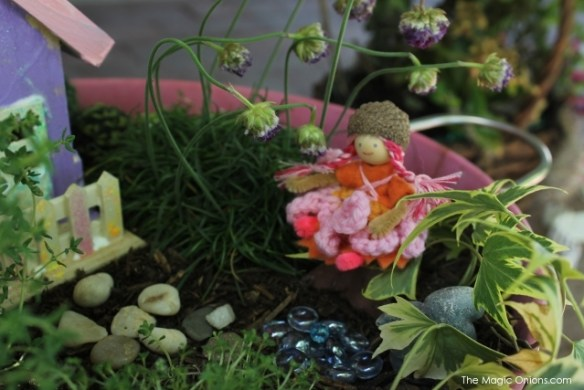 Kid-made Fairy Garden : Finalist in 2014 Fairy Garden Contest : www.theMagicOnions.com