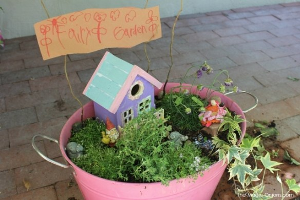 Child's Fairy Garden : Finalist in 2014 Fairy Garden Contest : www.theMagicOnions.com