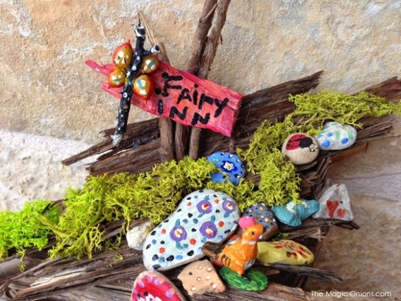 SECOND Prize Winner : Child Made Fairy Garden : 2014 Fairy Garden Contest on The Magic Onions : www.theMagicOnions.com