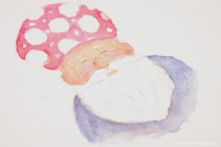 Gnome Painting : www.theMagicOnions.com