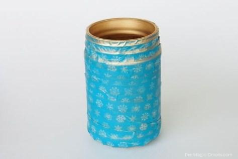diy mason jar craft photo with gold spray paint