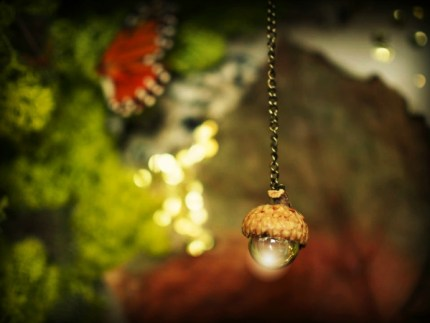 Magical acorn chandelier photo from my fairy garden